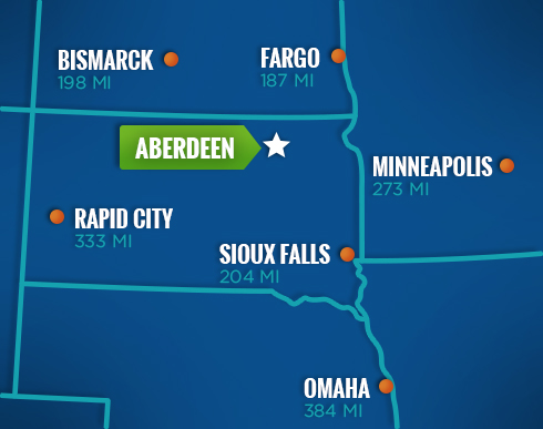 Where is Aberdeen, SD